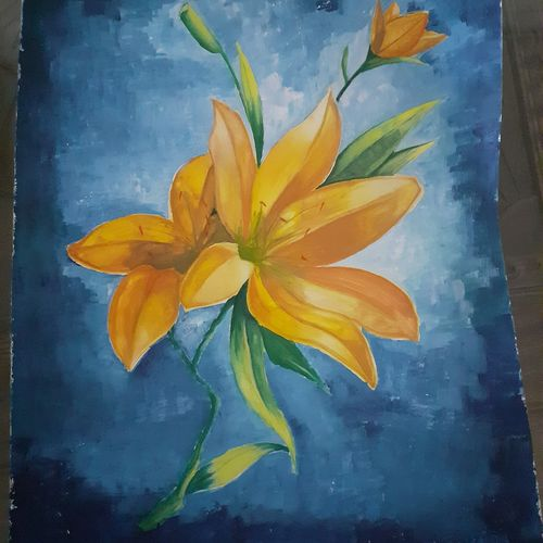smell , 14 x 11 inch, surabhi  singh ,14x11inch,thick paper,paintings,flower paintings,nature paintings | scenery paintings,paintings for dining room,paintings for living room,paintings for bedroom,paintings for hotel,paintings for school,paintings for hospital,poster color,GAL01950531292