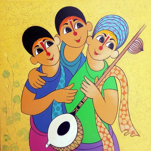 musical envoirment 2, 24 x 24 inch, dnyaneshwar  bembade ,24x24inch,canvas,paintings,figurative paintings,paintings for dining room,paintings for living room,paintings for bedroom,paintings for office,paintings for bathroom,paintings for kids room,paintings for hotel,paintings for school,paintings for hospital,acrylic color,GAL046431302