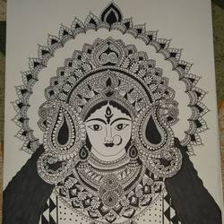 durga maa mandala art, 11 x 16 inch, himani dubey,11x16inch,drawing paper,paintings for dining room,paintings for living room,paintings for bedroom,paintings for office,paintings for kids room,paintings for hotel,paintings for school,paintings for hospital,modern drawings,realism drawings,paintings for dining room,paintings for living room,paintings for bedroom,paintings for office,paintings for kids room,paintings for hotel,paintings for school,paintings for hospital,ball point pen,paper,GAL01751131303