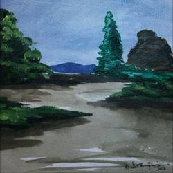 abstract landscape-10, 10 x 10 inch, vignesh kumar,abstract paintings,paintings for living room,landscape paintings,nature paintings,canvas,acrylic color,10x10inch,GAL02503131Nature,environment,Beauty,scenery,greenery