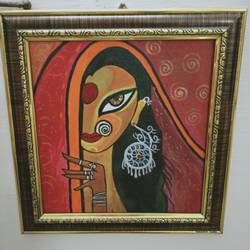 tribal painting, 8 x 10 inch, shambhavi mishra mishra,8x10inch,canvas board,paintings,folk art paintings,paintings for living room,paintings for bedroom,paintings for office,acrylic color,GAL01966831316