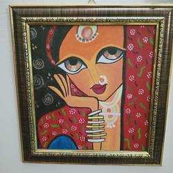 tribal painting, 8 x 10 inch, shambhavi mishra mishra,8x10inch,canvas board,paintings,folk art paintings,paintings for living room,paintings for bedroom,paintings for office,acrylic color,GAL01966831317