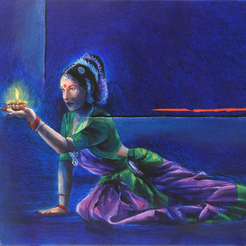 bharatnatyam, 36 x 24 inch, mitwa mistry,36x24inch,canvas,paintings,figurative paintings,folk art paintings,portraiture,realism paintings,contemporary paintings,realistic paintings,paintings for dining room,paintings for living room,paintings for office,paintings for hotel,paintings for school,paintings for dining room,paintings for living room,paintings for office,paintings for hotel,paintings for school,acrylic color,GAL01968431328