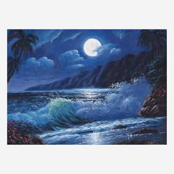 the moonlight seascape, 16 x 12 inch, niraj pradhan,16x12inch,canvas board,paintings,landscape paintings,nature paintings | scenery paintings,art deco paintings,realism paintings,paintings for living room,paintings for bedroom,paintings for office,paintings for hotel,paintings for hospital,acrylic color,GAL049231334