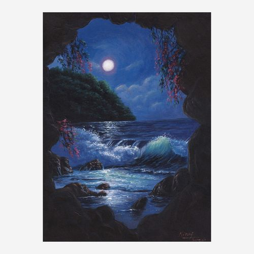 the midnight seascape, 16 x 12 inch, niraj pradhan,16x12inch,canvas board,paintings,landscape paintings,nature paintings | scenery paintings,art deco paintings,realism paintings,paintings for bedroom,paintings for office,paintings for hotel,paintings for hospital,acrylic color,GAL049231335