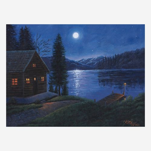 the moonlight mountain, 16 x 12 inch, niraj pradhan,16x12inch,canvas board,paintings,landscape paintings,nature paintings | scenery paintings,art deco paintings,realism paintings,paintings for living room,paintings for bedroom,paintings for office,paintings for hotel,paintings for hospital,acrylic color,GAL049231336