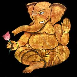 antique ganesha, 20 x 24 inch, akash bhisikar,20x24inch,canvas,paintings,abstract paintings,religious paintings,ganesha paintings | lord ganesh paintings,paintings for dining room,paintings for living room,paintings for bedroom,paintings for office,paintings for hotel,paintings for school,paintings for hospital,acrylic color,GAL01828631338