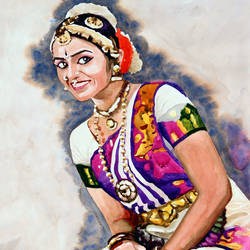 classical dancer (08), 20 x 26 inch, jeyaprakash m,expressionist paintings,paintings for bedroom,canson paper,watercolor,20x26inch,GAL011023135