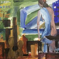sad women, 17 x 15 inch, shankhadeep  mondal,17x15inch,canvas,paintings,abstract paintings,figurative paintings,conceptual paintings,paintings for dining room,paintings for living room,paintings for bedroom,paintings for office,paintings for bathroom,paintings for kids room,paintings for hotel,paintings for kitchen,paintings for school,paintings for hospital,acrylic color,GAL01403031358