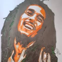 bob marley , 8 x 12 inch, prajwal h r,8x12inch,paper,drawings,pencil color,GAL01973531380