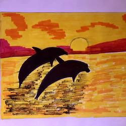 shadow painting, 16 x 12 inch, himani jhaveri,16x12inch,cartridge paper,paintings,abstract paintings,modern art paintings,conceptual paintings,nature paintings   scenery paintings,art deco paintings,contemporary paintings,paintings for dining room,paintings for living room,paintings for bedroom,paintings for office,paintings for bathroom,paintings for kids room,paintings for hotel,paintings for kitchen,paintings for school,paintings for hospital,acrylic color,mixed media,pen color,poster color,GAL01972031382