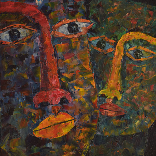 abstract painting - faces, 10 x 12 inch, sayak mukherjee,10x12inch,canvas board,paintings,abstract paintings,figurative paintings,modern art paintings,art deco paintings,paintings for living room,paintings for bedroom,paintings for office,paintings for hotel,paintings for school,paintings for hospital,oil color,GAL01973431387