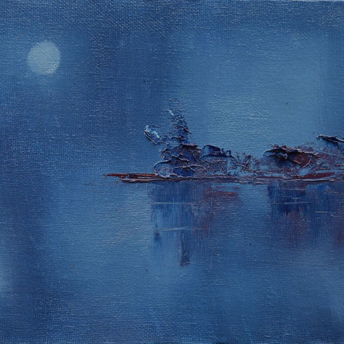 abstract painting - blues, 8 x 6 inch, sayak mukherjee,8x6inch,canvas board,paintings,abstract paintings,landscape paintings,nature paintings | scenery paintings,art deco paintings,paintings for living room,paintings for bedroom,paintings for office,paintings for hotel,paintings for school,paintings for hospital,oil color,GAL01973431394