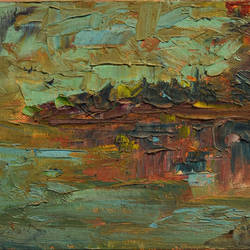 abstract landscape painting - deserted, 8 x 6 inch, sayak mukherjee,8x6inch,canvas board,paintings,abstract paintings,landscape paintings,nature paintings | scenery paintings,paintings for dining room,paintings for living room,paintings for bedroom,paintings for office,paintings for kids room,paintings for hotel,paintings for school,paintings for hospital,oil color,GAL01973431396