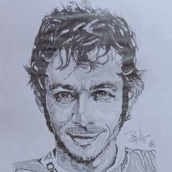 valentino rossi motogp, 8 x 12 inch, prajwal h r,8x12inch,paper,drawings,fine art drawings,portrait drawings,paintings for living room,graphite pencil,GAL01973531399