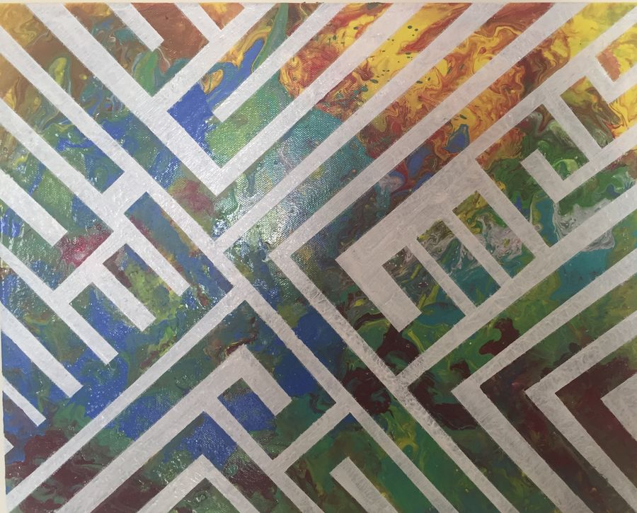 the maze , 16 x 20 inch, beverly  dsouza ,abstract paintings,paintings for office,canvas,acrylic color,16x20inch,GAL0129314