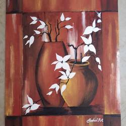 wall painting, 16 x 20 inch, snehal gawade,16x20inch,canvas,paintings,modern art paintings,still life paintings,nature paintings | scenery paintings,paintings for dining room,paintings for living room,paintings for bedroom,paintings for office,paintings for bathroom,paintings for kids room,paintings for hotel,paintings for kitchen,paintings for school,paintings for hospital,acrylic color,oil color,GAL01974431410