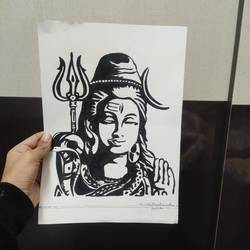lord shiva, 8 x 12 inch, tanishka saraf,8x12inch,drawing paper,drawings,paintings for living room,ink color,GAL01972931424