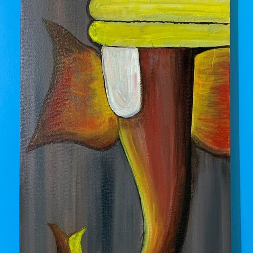 abstract ganesha, 12 x 24 inch, rasmi r,12x24inch,canvas,paintings,abstract paintings,figurative paintings,modern art paintings,conceptual paintings,religious paintings,ganesha paintings | lord ganesh paintings,contemporary paintings,paintings for dining room,paintings for living room,paintings for bedroom,paintings for hotel,paintings for school,paintings for hospital,paintings for dining room,paintings for living room,paintings for bedroom,paintings for hotel,paintings for school,paintings for hospital,acrylic color,GAL01977931439