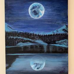reflection, 12 x 16 inch, rasmi r,12x16inch,canvas,paintings,landscape paintings,nature paintings | scenery paintings,paintings for dining room,paintings for living room,paintings for bedroom,paintings for office,paintings for hotel,acrylic color,GAL01977931440