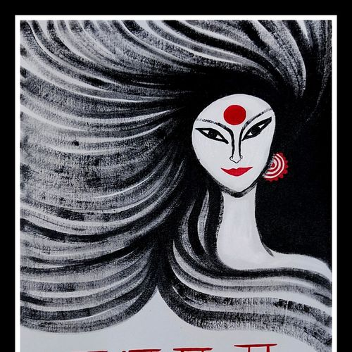 durga, 18 x 24 inch, shipra raman,18x24inch,canvas board,paintings,figurative paintings,modern art paintings,portrait paintings,expressionism paintings,contemporary paintings,paintings for dining room,paintings for living room,paintings for bedroom,paintings for office,paintings for hotel,paintings for kitchen,paintings for school,paintings for hospital,acrylic color,GAL01897331459