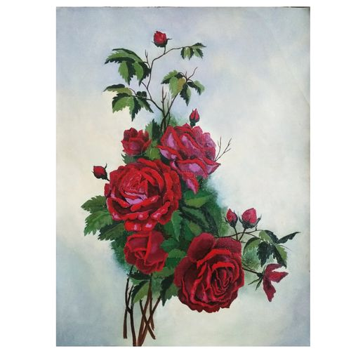 roses, 11 x 15 inch, sumaiya javed,11x15inch,canvas,flower paintings,still life paintings,realism paintings,paintings for living room,paintings for bedroom,paintings for office,paintings for hotel,paintings for kitchen,paintings for hospital,paintings for living room,paintings for bedroom,paintings for office,paintings for hotel,paintings for kitchen,paintings for hospital,acrylic color,GAL01962831461