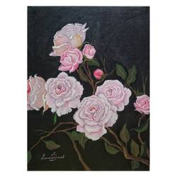 white rose bushes, 12 x 16 inch, sumaiya javed,12x16inch,canvas board,paintings,flower paintings,landscape paintings,still life paintings,nature paintings | scenery paintings,photorealism paintings,photorealism,realism paintings,realistic paintings,paintings for dining room,paintings for living room,paintings for bedroom,paintings for office,paintings for hotel,paintings for kitchen,paintings for hospital,acrylic color,GAL01962831466