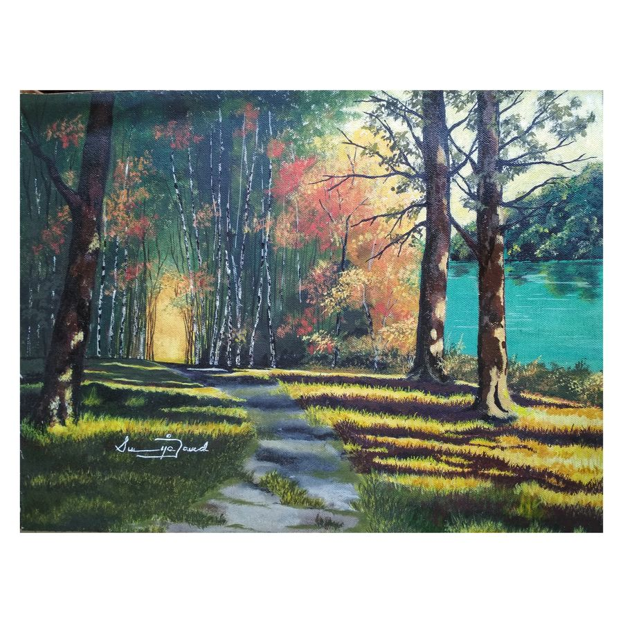 shadows, 15 x 11 inch, sumaiya javed,15x11inch,canvas,paintings,landscape paintings,conceptual paintings,nature paintings | scenery paintings,photorealism paintings,photorealism,realism paintings,realistic paintings,paintings for dining room,paintings for living room,paintings for bedroom,paintings for office,paintings for hotel,paintings for hospital,acrylic color,GAL01962831468