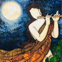 poonam, 34 x 36 inch, mrinal  dutt,34x36inch,canvas,paintings,figurative paintings,religious paintings,radha krishna paintings,contemporary paintings,paintings for dining room,paintings for living room,paintings for bedroom,paintings for office,paintings for bathroom,paintings for kids room,paintings for hotel,paintings for kitchen,paintings for school,paintings for hospital,acrylic color,GAL01311731472