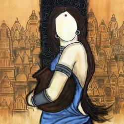 panihar , 26 x 36 inch, mrinal  dutt,26x36inch,canvas,paintings,figurative paintings,contemporary paintings,paintings for dining room,paintings for living room,paintings for bedroom,paintings for office,paintings for bathroom,paintings for kids room,paintings for hotel,paintings for kitchen,paintings for school,paintings for hospital,acrylic color,GAL01311731473