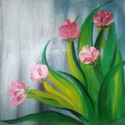 natures beauty, 12 x 12 inch, apeksha agrawal,12x12inch,canvas,paintings,flower paintings,paintings for dining room,paintings for living room,paintings for bedroom,paintings for office,paintings for bathroom,paintings for kids room,paintings for hotel,paintings for kitchen,paintings for school,paintings for hospital,oil color,GAL01501131474
