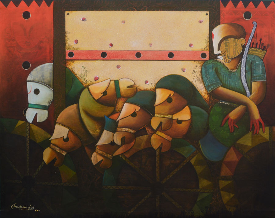 parthasarathi  17, 60 x 48 inch, anupam  pal,60x48inch,canvas,paintings,abstract paintings,buddha paintings,wildlife paintings,figurative paintings,flower paintings,folk art paintings,foil paintings,cityscape paintings,landscape paintings,modern art paintings,multi piece paintings,conceptual paintings,religious paintings,still life paintings,portrait paintings,nature paintings | scenery paintings,art deco paintings,cubism paintings,dada paintings,expressionism paintings,illustration paintings,impressionist paintings,photorealism paintings,pop art paintings,realism paintings,street art,surrealism paintings,ganesha paintings | lord ganesh paintings,animal paintings,radha krishna paintings,contemporary paintings,realistic paintings,love paintings,horse paintings,mother teresa paintings,elephant paintings,islamic calligraphy paintings,warli paintings,lord shiva paintings,kalighat painting,phad painting,kalamkari painting,miniature painting.,gond painting.,kerala murals painting,serigraph paintings,paintings for dining room,paintings for living room,paintings for bedroom,paintings for office,paintings for bathroom,paintings for kids room,paintings for hotel,paintings for kitchen,paintings for school,paintings for hospital,acrylic color,mixed media,GAL08231485