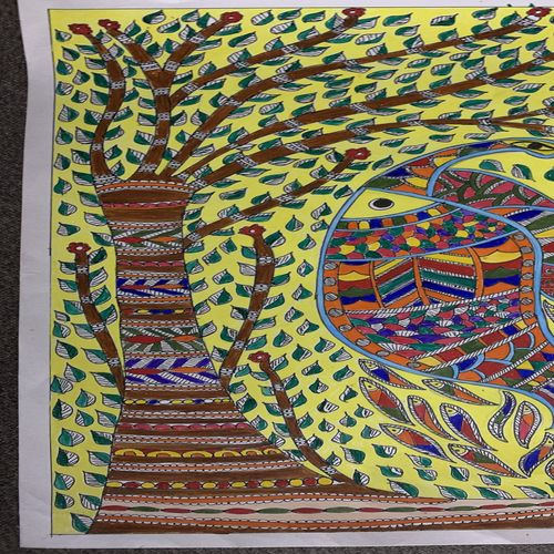 traditional fish, 12 x 17 inch, tanmoy prasad,12x17inch,ivory sheet,paintings,wildlife paintings,flower paintings,folk art paintings,nature paintings | scenery paintings,animal paintings,madhubani paintings | madhubani art,paintings for dining room,paintings for living room,paintings for bedroom,paintings for office,paintings for bathroom,paintings for kids room,paintings for hotel,paintings for kitchen,paintings for school,paintings for hospital,acrylic color,fabric,paper,GAL01947831487