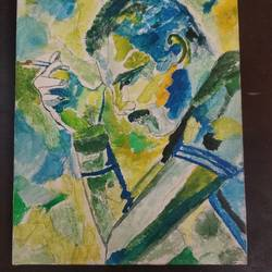 freddy mercury, 8 x 8 inch, sunitha pissay,8x8inch,canvas,paintings,modern art paintings,portrait paintings,abstract expressionism paintings,acrylic color,GAL01061731499