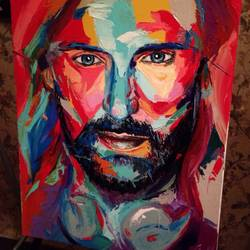david guetta, 12 x 12 inch, sunitha pissay,12x12inch,canvas,paintings,abstract paintings,acrylic color,GAL01061731501