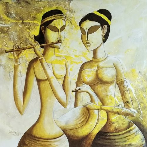 inner voice-5, 30 x 36 inch, kirtiraj mhatre,30x36inch,canvas,paintings,figurative paintings,modern art paintings,contemporary paintings,paintings for dining room,paintings for living room,paintings for bedroom,paintings for office,paintings for hotel,paintings for kitchen,paintings for school,paintings for hospital,acrylic color,GAL0168131506