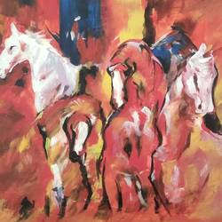 horse, 12 x 16 inch, sunitha pissay,12x16inch,canvas,modern art paintings,paintings for living room,paintings for bedroom,paintings for office,paintings for hotel,paintings for living room,paintings for bedroom,paintings for office,paintings for hotel,acrylic color,GAL01061731509