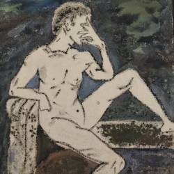 nude male , 8 x 10 inch, sunitha pissay,8x10inch,canvas,paintings,figurative paintings,acrylic color,GAL01061731512