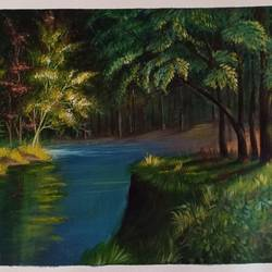 landscape, 18 x 14 inch, kumar ranadive,18x14inch,canvas,landscape paintings,paintings for office,paintings for office,acrylic color,GAL01956931535