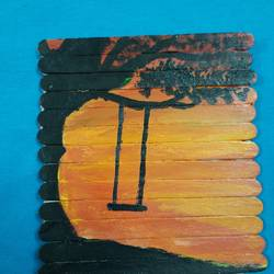 dusk, 5 x 6 inch, khushboo  singh,5x6inch,wood board,paintings,landscape paintings,acrylic color,GAL01920131545