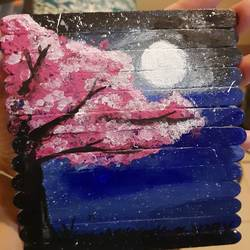 moonlight , 5 x 6 inch, khushboo  singh,5x6inch,wood board,landscape paintings,acrylic color,GAL01920131546