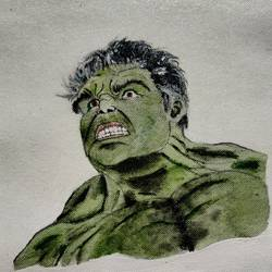 the hulk, 11 x 12 inch, passion arts,11x12inch,canvas,paintings,modern art paintings,children paintings,paintings for living room,paintings for kids room,acrylic color,GAL01696631558