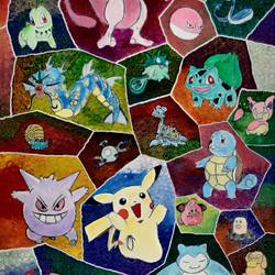 pokémon: the johto league, 36 x 18 inch, passion arts,36x18inch,canvas,paintings,modern art paintings,portrait paintings,children paintings,kids paintings,paintings for living room,paintings for bedroom,paintings for kids room,paintings for hotel,paintings for school,acrylic color,GAL01696631559
