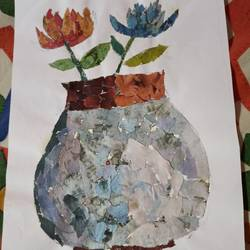 vase, 7 x 10 inch, subham roy,7x10inch,thick paper,paintings,still life paintings,paintings for bedroom,paper,GAL01992531569