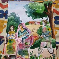 holi, 10 x 15 inch, subham roy,10x15inch,renaissance watercolor paper,paintings,religious paintings,paintings for hotel,mixed media,GAL01992531572