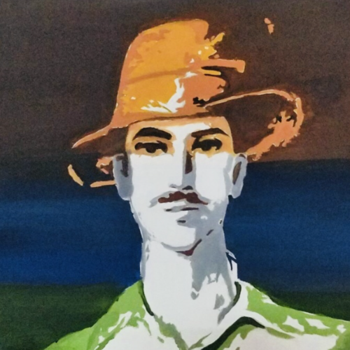 bhagat singh, 15 x 20 inch, harvallav kaur brar,15x20inch,canvas,paintings,abstract paintings,portrait paintings,acrylic color,GAL01994231586