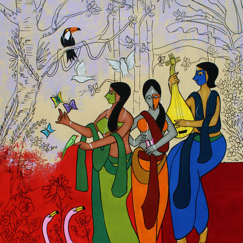 relish, 26 x 40 inch, chetan katigar,26x40inch,canvas,paintings,abstract paintings,wildlife paintings,figurative paintings,flower paintings,folk art paintings,foil paintings,cityscape paintings,landscape paintings,modern art paintings,multi piece paintings,conceptual paintings,religious paintings,still life paintings,portrait paintings,tanjore paintings,abstract expressionism paintings,art deco paintings,cubism paintings,expressionism paintings,photorealism paintings,animal paintings,contemporary paintings,realistic paintings,love paintings,paintings for dining room,paintings for living room,paintings for bedroom,paintings for office,paintings for bathroom,paintings for kids room,paintings for hotel,paintings for kitchen,paintings for school,paintings for hospital,acrylic color,GAL026631595