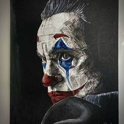 joker, 10 x 13 inch, anshul  agrawal ,10x13inch,canvas board,portrait paintings,acrylic color,GAL01997231597