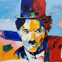 charlie , 12 x 13 inch, anshul  agrawal ,12x13inch,canvas board,portrait paintings,acrylic color,GAL01997231598
