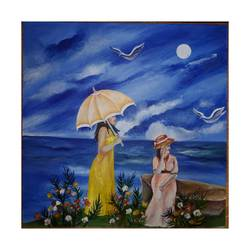 sea side scenery, 15 x 15 inch, riya rana,15x15inch,canvas board,paintings,landscape paintings,acrylic color,GAL01998131599